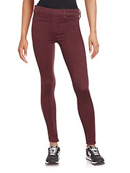 True Religion Runway Banded Waist Leggings Red