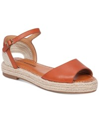Lucky Brand Flairr Flat Two Piece Espadrille Sandals Women's Shoes Magma Natural