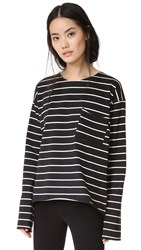 Knot Sisters Strange Bird Top Black Stripe