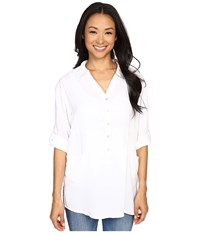 Miraclebody Jeans Trish Pocket Tunic W Body Shaping Inner Shell White Women's Blouse