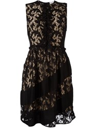 Sonia Rykiel Lace Overlay Dress Black