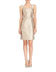 Lafayette 148 New York Nouveau Shantung Silk Blend Ava Dress Rock