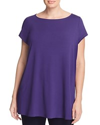 Eileen Fisher Plus Draped Boat Neck Tee Dark Night