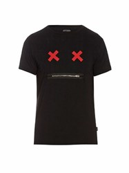 Marc Jacobs Cross Eyes Cotton Jersey T Shirt Black