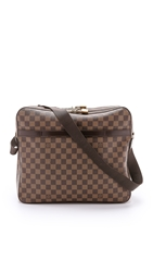 Wgaca Vintage Louis Vuitton Damier Ebene Dorsoduro Messenger Bag Brown