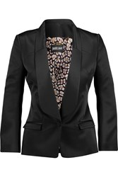 Just Cavalli Satin Twill Blazer Black
