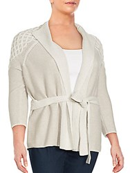Lafayette 148 New York Three Quarter Sleeve Wool Blend Cardigan Luxor