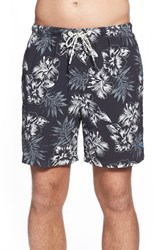 Men's Tommy Bahama 'Naples Mandalay' Floral Print Drawstring Swim Trunks Black