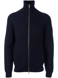Theory Zip Up Cardigan Blue
