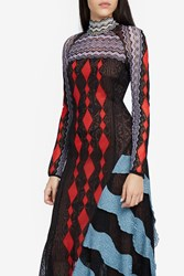 Peter Pilotto Lace Knit Long Dress Black