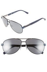 Men's Boss 62Mm Polarized Aviator Sunglasses Blue Ruthenium Silver Mirror