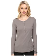 Lamade Alex Henley Peppercorn Women's Long Sleeve Pullover Brown