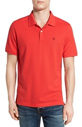 Men's Victorinox Swiss Army 'Vx Stretch' Tailored Fit Pique Polo Torch Red