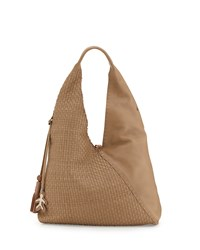 Canotta Woven Leather Hobo Bag Dark Taupe Henry Beguelin