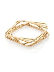 Abs By Allen Schwartz Jewelry Box Of Jewels Square Bangle Bracelet Set Gold