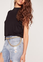 Missguided Chunky Chain Belt Gold Gold