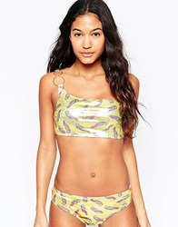 Pistol Panties Isabelle Bikini In Gold Parrot Gold Parrot