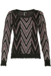 Izabel London Metallic Thread Knitted Pullover Pink