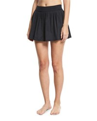 Kate Spade Pleated Coverup Skirt Black