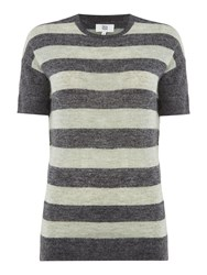 Noa Noa Wool Blend Pullover With Short Sleeve Green