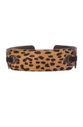 Lanvin Waist Belt In Brown Neutrals Animal Print