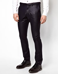 Vito Suit Trousers With Sheen Blue