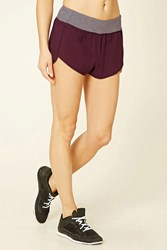 Forever 21 Active Woven Shorts Plum Plum