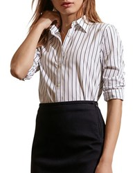 Lauren Ralph Lauren Striped Cotton Shirt White Black