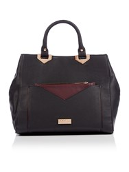 Lipsy Black Pocket Tote Bag Black