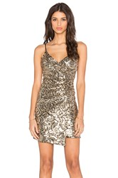 Wyldr Moving On Wrap Dress Metallic Gold