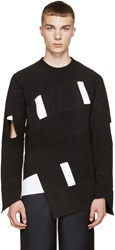 Comme Des Garcons Black Fleece Asymmetrical Sweatshirt