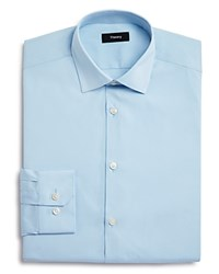 Theory Basic Solid Regular Fit Dress Shirt Blue