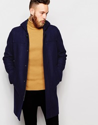 Asos Duffle Coat In Navy