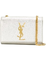 Saint Laurent 'Monogram' Chain Wallet Metallic