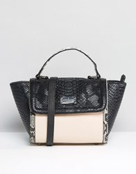 Paul's Boutique Pauls Faux Snake Winged Tote Bag Multi
