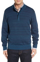 Cutter And Buck Men's Big Tall 'Douglas Forest' Jacquard Wool Blend Sweater