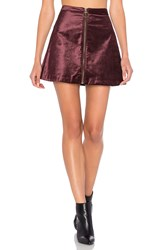 Free People Funkytown One And Only Skirt Wine