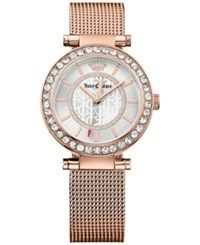 Juicy Couture Women's Cali Rose Gold Tone Stainless Steel Mesh Bracelet Watch 34Mm 1901374