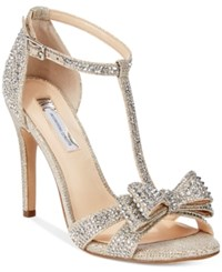 Inc International Concepts Women's Reesie Rhinestone Bow Evening Sandals Only At Macy's Women's Shoes Champagne