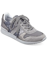 G By Guess Women's Fax Jogger Sneakers Women's Shoes Pewter Glitter
