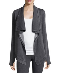 Marc Ny Performance Draped Fleece Cardigan Smoke