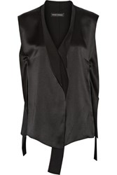 Narciso Rodriguez Silk Satin Top Black