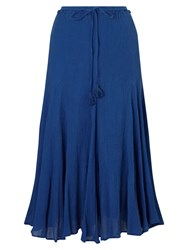 East Cheesecloth Crinkle Skirt Cobalt