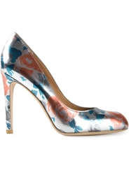 Marc By Marc Jacobs Metallic Rose Print Pumps Grey