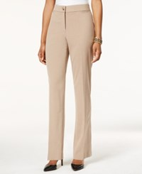 Jm Collection Straight Leg Welt Pocket Pants Only At Macy's Heather Wheat