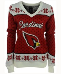 Forever Collectibles Women's Arizona Cardinals Big Logo Ugly Sweater Red White