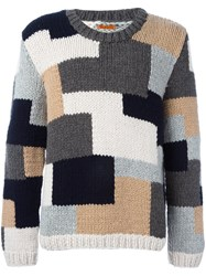 Barena Patchwork Crew Neck Jumper Multicolour