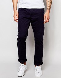 Ringspun Slim Fit Chino Trousers Navy