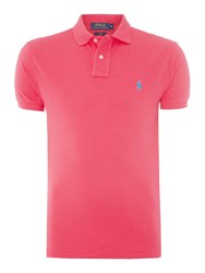 Polo Ralph Lauren Slim Fit Basic Mesh Polo Hot Pink