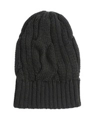 William Rast Cable Knit Beanie Black